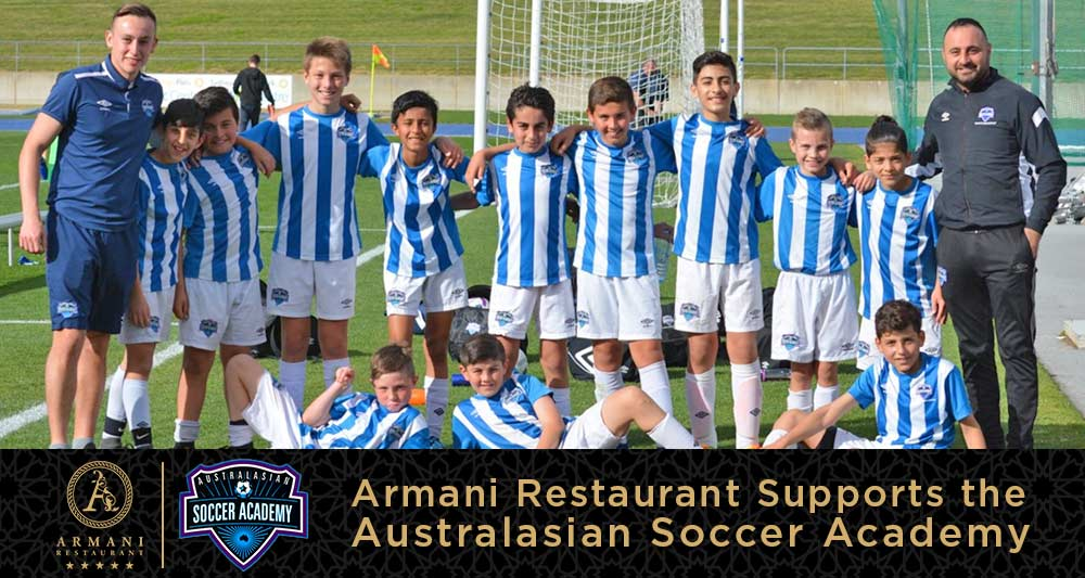 Armani Restaurant Supports the Australasian Soccer Academy