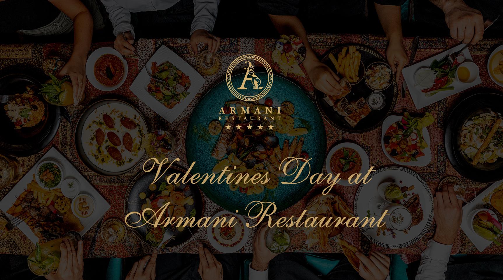 Valentines Day at Armani Restaurant
